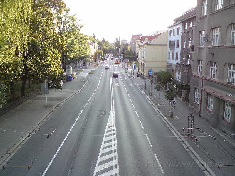 Ulice Pospíšilova shora