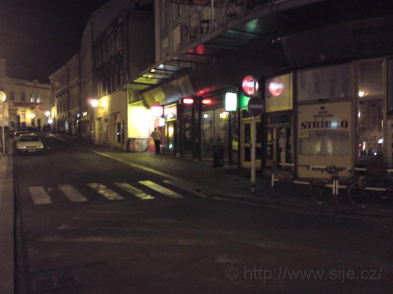Noční Ulice V kopečku