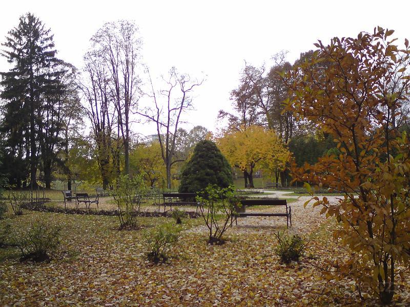 Lavičky v podzimu