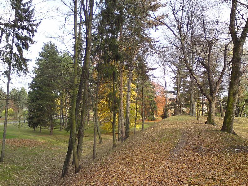 Obranný val na podzim