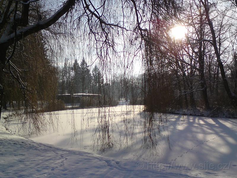 Zimní romance u vody
