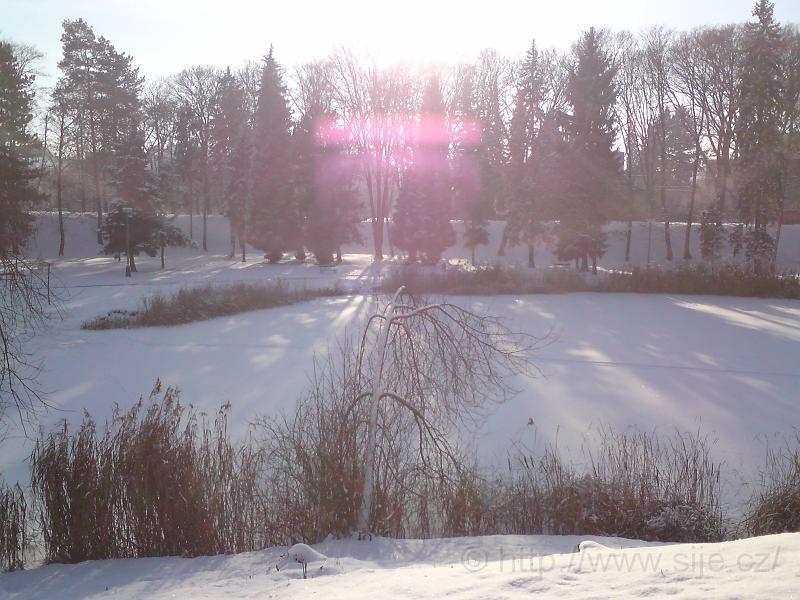 Zimní hra světla