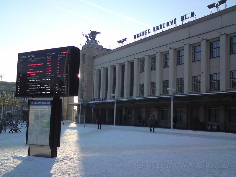 Hlavní nádraží v zimě