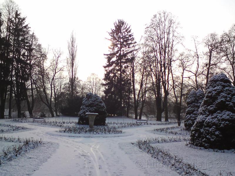Zimní Jiráskovy sady
