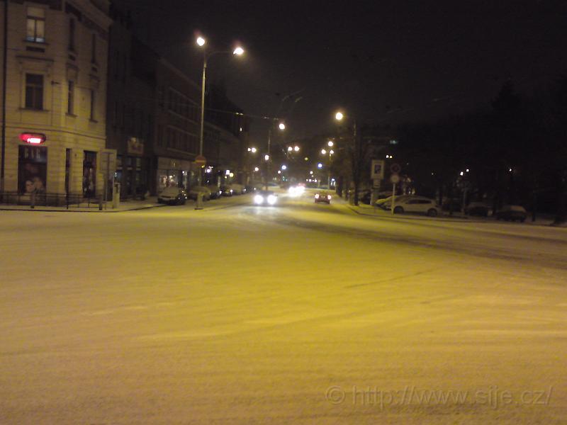 Ulice Karla IV. ve sněhu