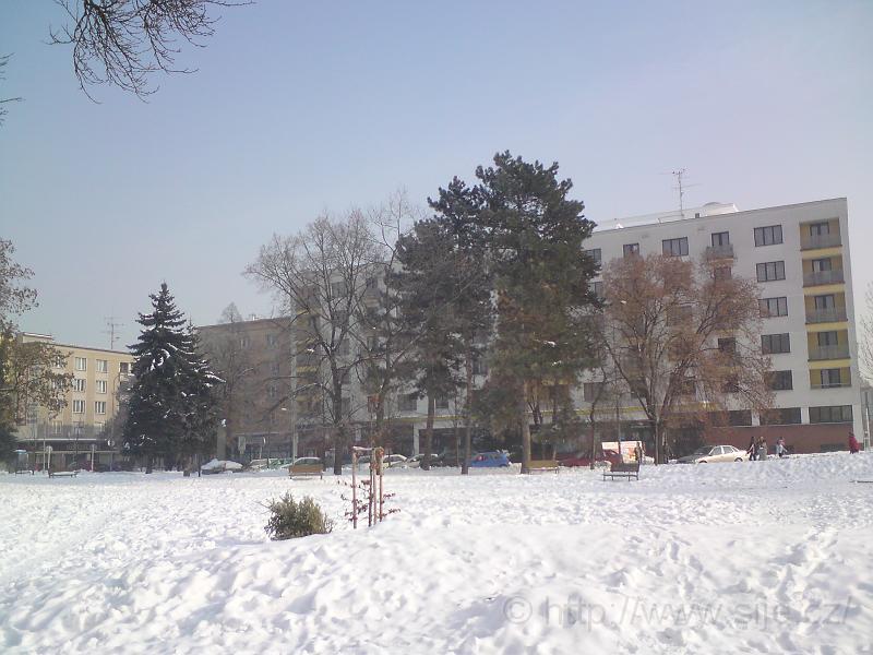 Pohled přes Sukovy sady