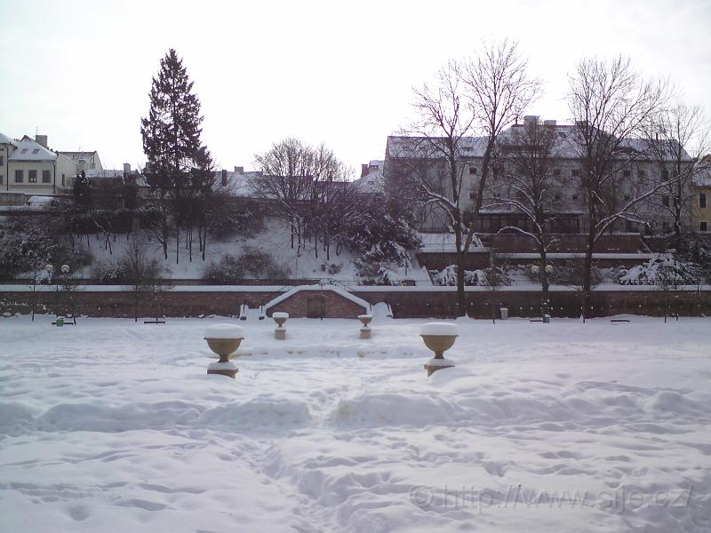 Zasněžená fontána