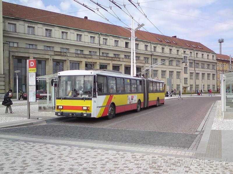 Kloubový trolejbus MHD